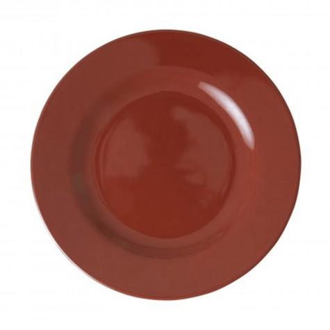 Piatto frutta in melamina tinta unita marrone