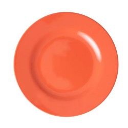 Piatto frutta in melamina tinta unita arancione