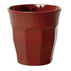 Bicchiere medio in melamina marrone