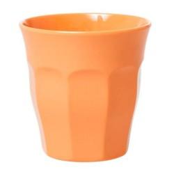 Bicchiere medio in melamina arancio pastello