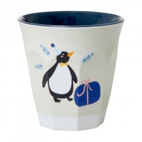 Bicchiere bimbo fantasia pinguino in festa
