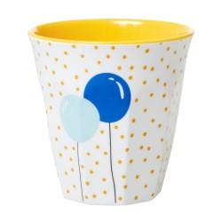 Bicchiere bimbo fantasia palloncini azzurri