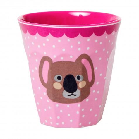 Bicchiere bimba rosa fantasia koala