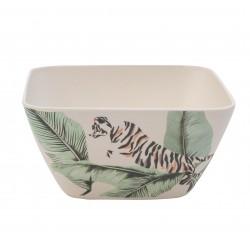 Ciotola in bambù fantasia tigre bianca