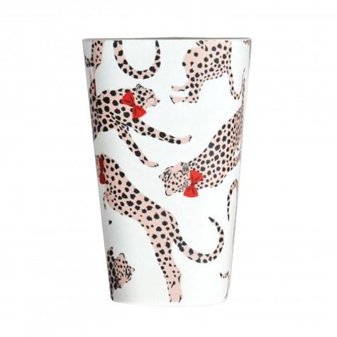 Bicchiere in bambù fantasia ghepardi