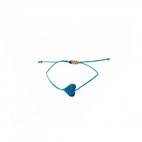 Braccialetto azzurro con cuoricino