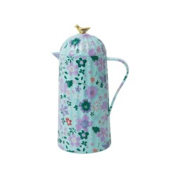 Caraffa termica azzurra fantasia floreale 1 L