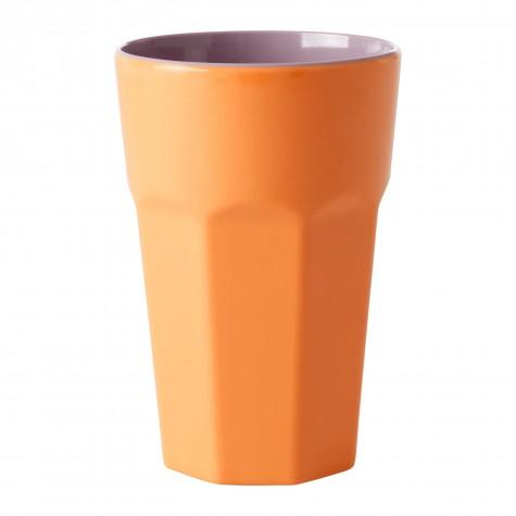 Bicchierone latte in melamina arancione