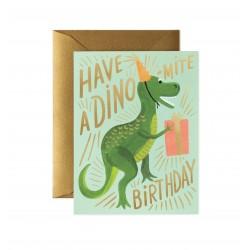 """Biglietto di auguri di compleanno """"Have A Dino-mite Birthday"""""""