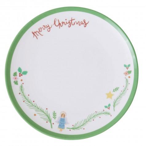 Piatto da dessert Merry Christmas con...