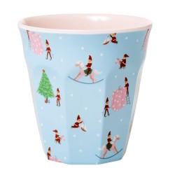 Bicchiere in melamina fantasia Elfi di Natale