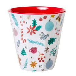 Bicchiere in melamina fantasia Icone di Natale
