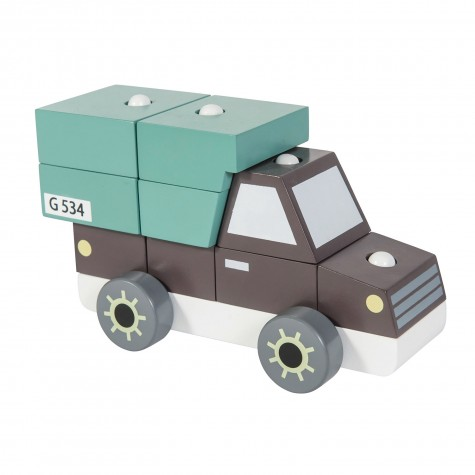 Camion grande in legno