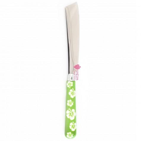 Coltello torta a fiori - verde