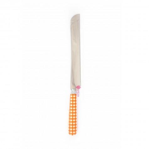 Coltello panettone a quadri - arancio