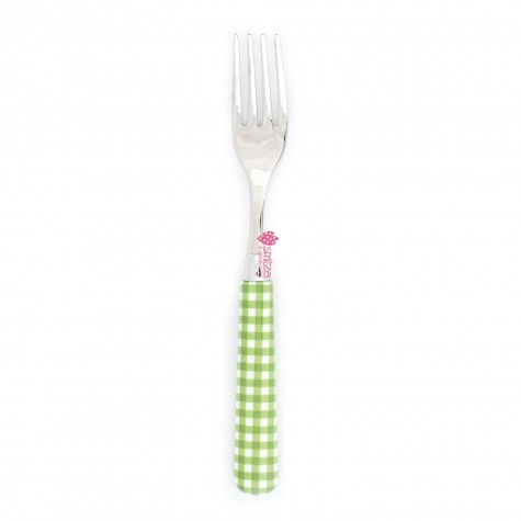 Forchetta da tavola a quadri - verde