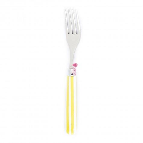 Forchetta da tavola a righe - gialla