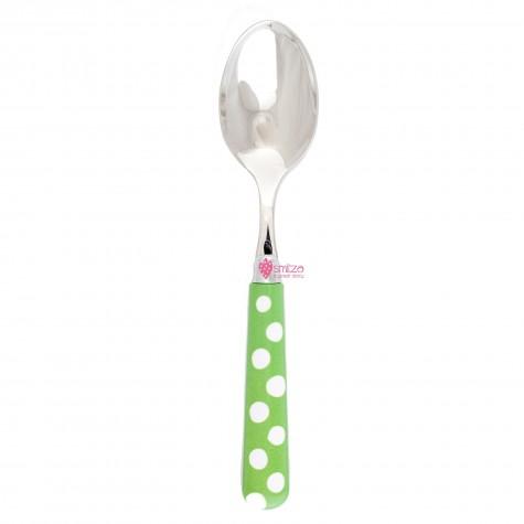 Cucchiaio da tavola a pois - verde