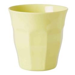 Bicchiere medio tinta unita - giallo pastello