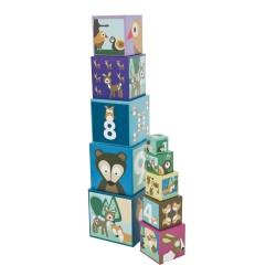 Cubi impilabili di cartone