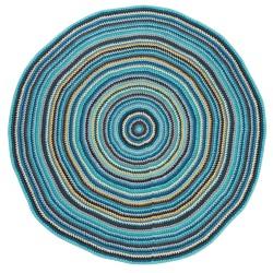 Crochet floor mat