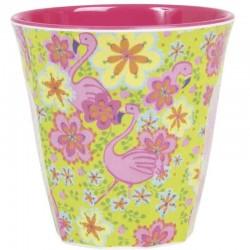 Bicchiere medio fantasia - Flamingo
