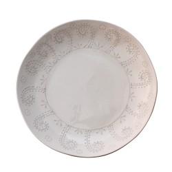 Centrotavola bianco in ceramica
