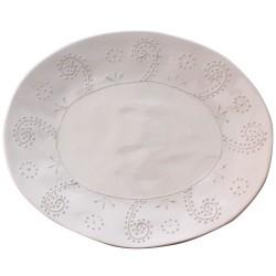 Vassoio ovale da portata bianco