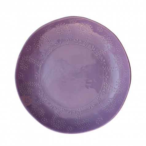 Centrotavola lilla in ceramica