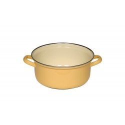 Large casserole with two handles - yellow