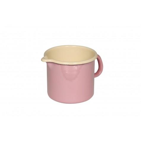 Tegamino con manico e beccuccio - rosa