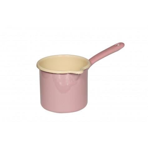 Tegamino con manico lungo e beccuccio - rosa