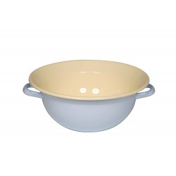 Bowl with two handles - blue