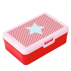 Large lunch box - blue star