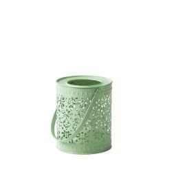 Lanterna in metallo - verde pastello