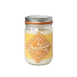 Candela in cera di soia al miele