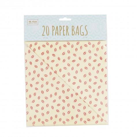 20 coni di carta - fantasia baci