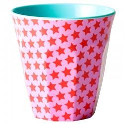Bicchiere medio melamina - stelline rosse