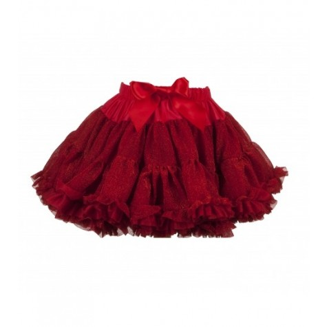 Girls Petticoat Tutu in Sparkly Red