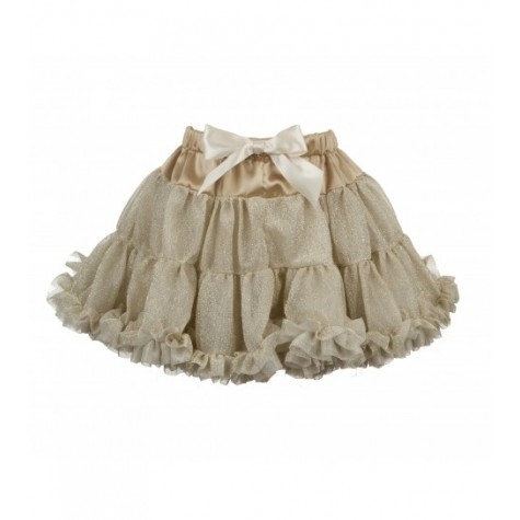 Girls Petticoat Tutu in Sparkly Gold