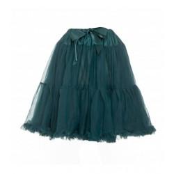Womens petticoat in emerald