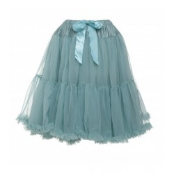 Womens petticoat in sea blue