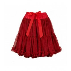 Women's petticoat-tutù in sparkly red