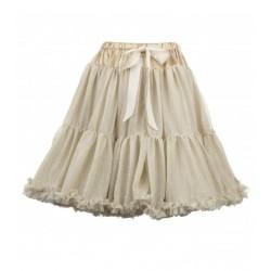 Women's petticoat-tutù in sparkly gold