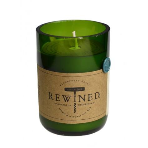 Candela in bottiglia di vino - Riesling