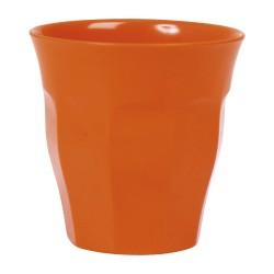 Bicchiere medio tinta unita - arancio