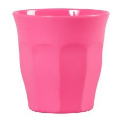 Bicchiere Rice in melamina medio tinta unita - rosa chewing gum