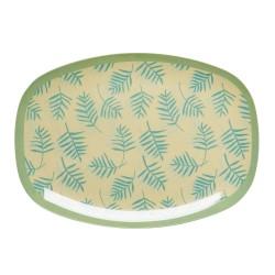Piatto ovale in melamina - fantasia foglie di palma
