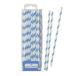 Cannucce di carta azzurre