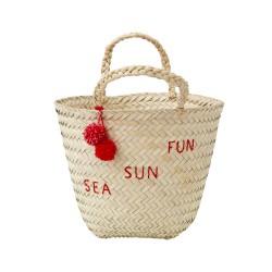 068723cdc1 Shopping bag da mare LOVE rosa - GallinaSmilza